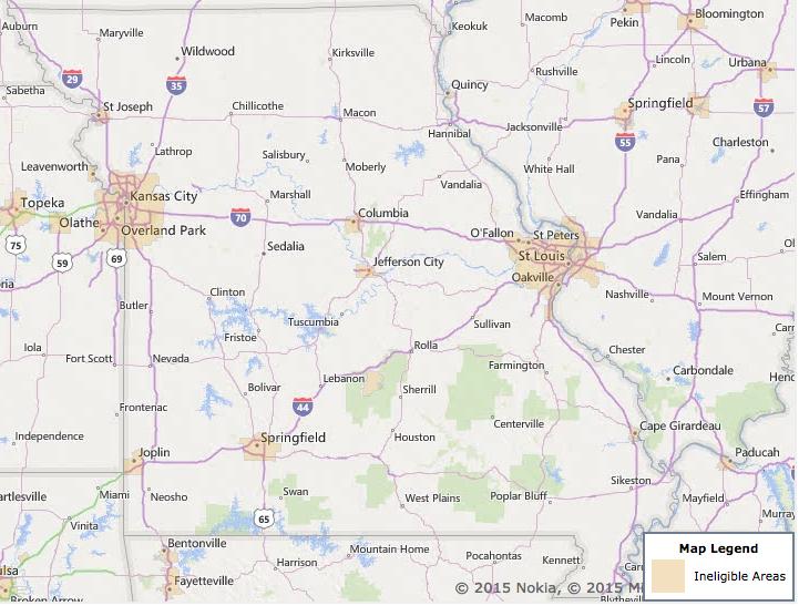 Missouri USDA Loan Eligibility Information & Application on usda rural zone map, usda eligibility map of wisconsin, usda eligible area map,